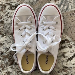 Converse All Star Chuck Taylor white sneakers sz 1